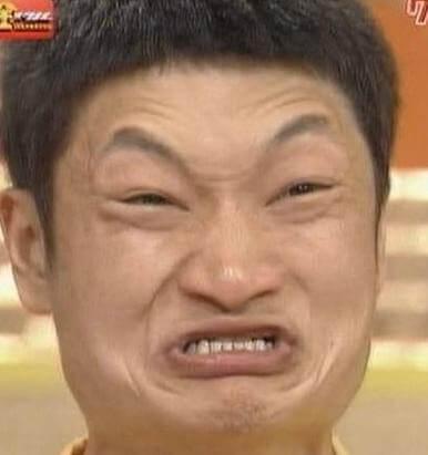 ザブングル加藤の悔しい顔