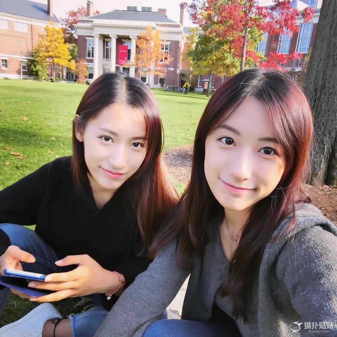 美人双子女子大生