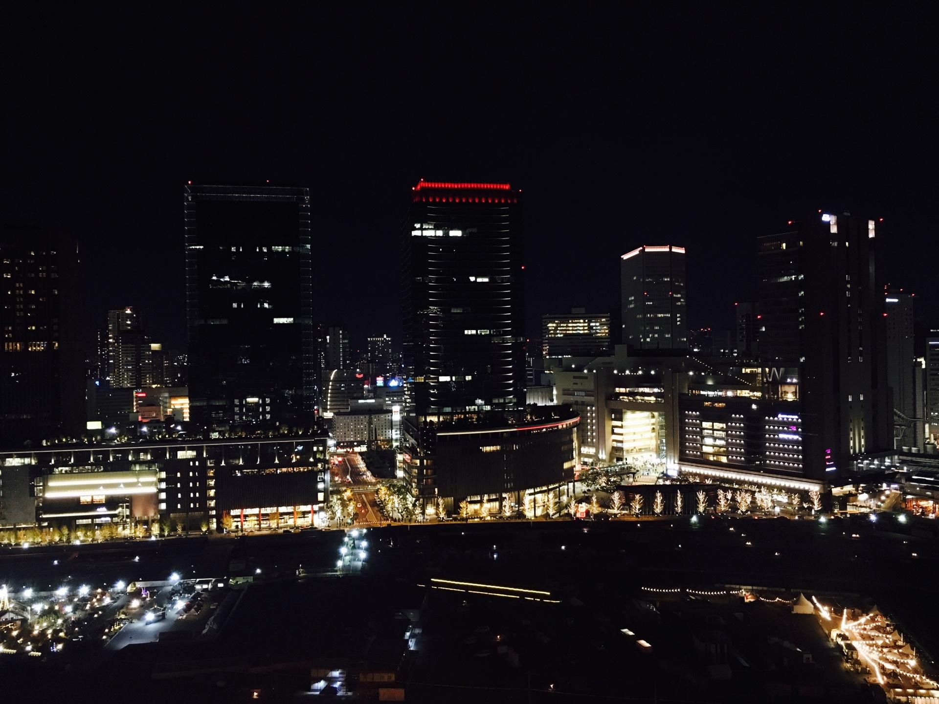 ウエスティン大阪の夜景