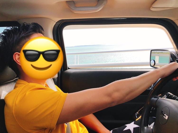 恋達宮古島ハマーでドライブ