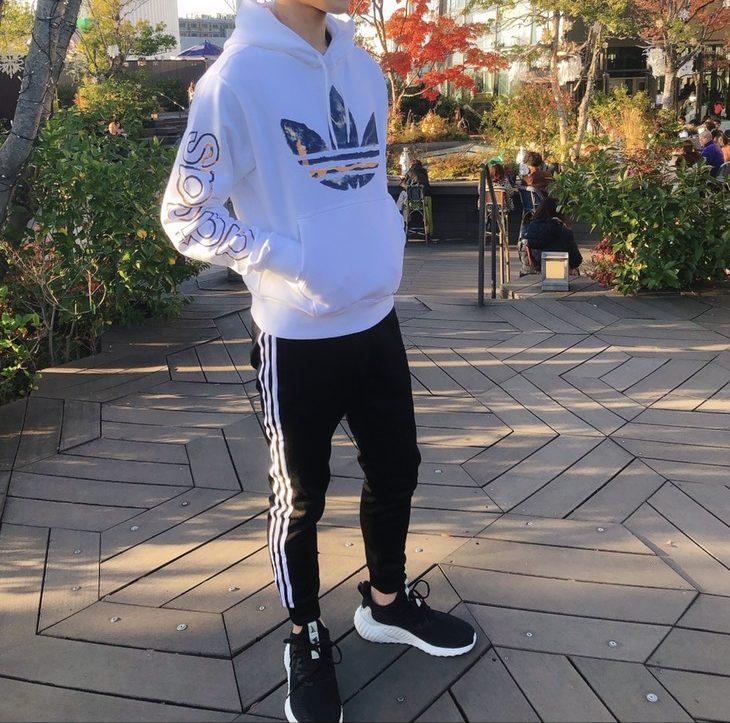 スポーティーな池袋男子のファッション